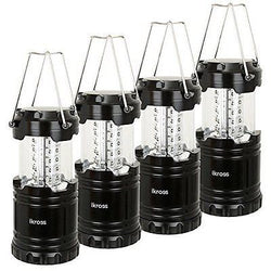 4-Pack 30 LED Lantern iKross Collapsible Lantern with Bright 60 Lumens output