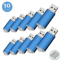 10PCS USB Flash Drive Pen Drive USB Drive Memory Sticks (4G, Blue)