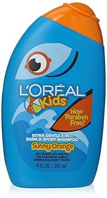 L'Oreal Kids Extra Gentle 2-in-1 Swim Sport Shampoo Sunny Orange