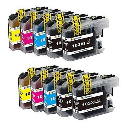 GPC Image 10 Pack Compatible Ink Replacement for Brother LC103XL