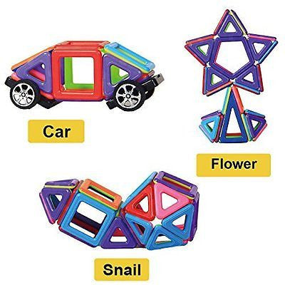 Magnetic Building Blocks | 76 Pieces | Let Your Kid Learn Colors