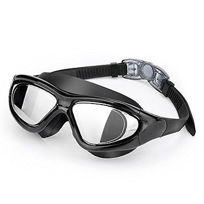 Premium Big Frame Competition Swim Goggles with FREE Protective Case