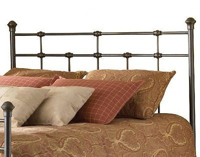 Dexter Metal Headboard with Decorative Castings and Globe Finials