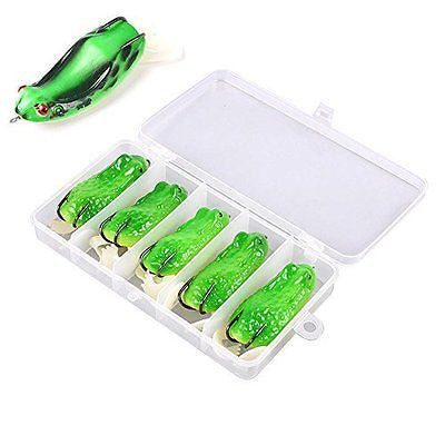 Types1 5pcs Kopper Live Target Frog 85mm/16g Snakehead Lure Topwater Fishing Lur