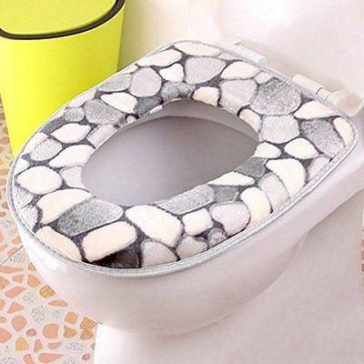 Spritech(TM) Soft Bathroom Warmer Washable Velveteen Cartoon Pattern Toilet