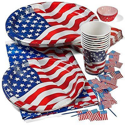 Patriotic 4th of July Party Deluxe Patriotic Cups Plates Patriotic Oval Plates