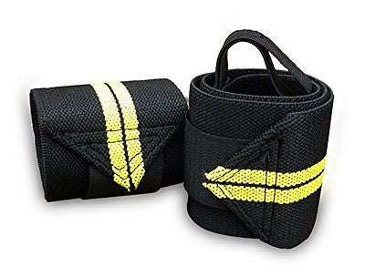"Wrist Wraps - 18"" Professional Quality Training Straps for Support in Weightlift"