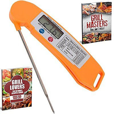 Premium Instant Read Cooking Thermometer with Long Probe Small Ultra Fast