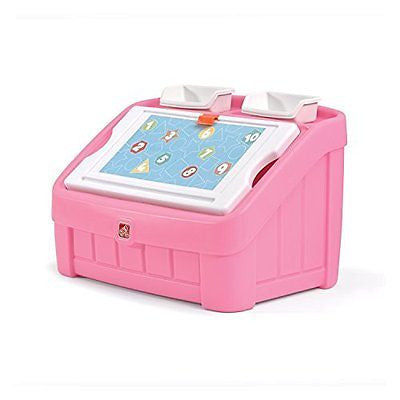 Step2 2-in-1 Toy Box and Art Lid, Pink