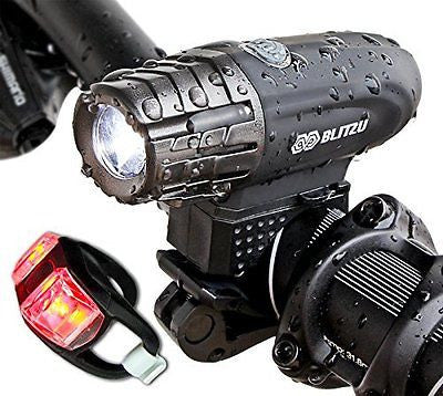 Super Bright USB Rechargeable Bike Light - 320 POWERFUL Bicycle Headlight