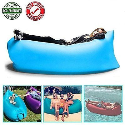 Hangout Bag Inflatable Air Sleeping Bag Infaltable Lounger Air Boat By LLUNC