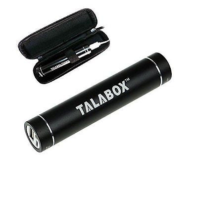 TALABOX 2nd Gen 3200mah Black Lipstick Style Portable Battery Charger Battery