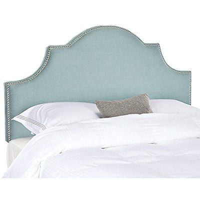Safavieh Mercer Collection Hallmar Arched Headboard, Queen, Sky Blue