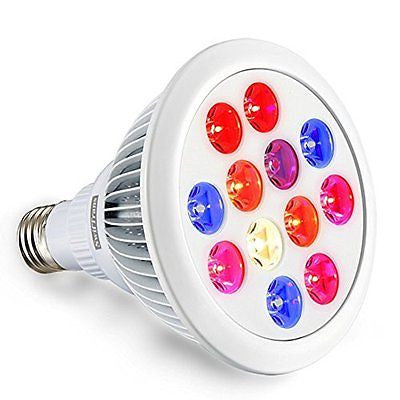 LED Grow Light Bulb, Swiftrans 12W Full Spectrum High Efficient Hydroponic