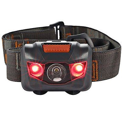 Headlamp LED Headlight 4 Mode Outdoor Flashlight Torch with Dimmable White Light