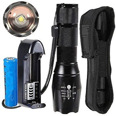 USTOP-SH A100 Cree XM-L2 LED 5-Mod Flashlight Torch Lamp with Charger