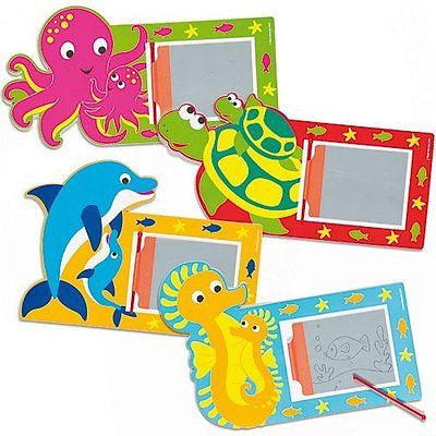 Sealife Buddies Magic Drawing Slates Party Bag Fillers Themed Children's Gifts