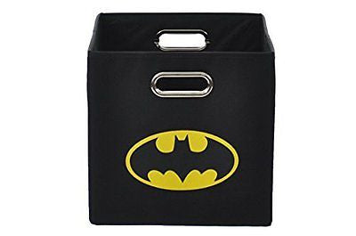 Batman Logo Folding Storage Bin, Black