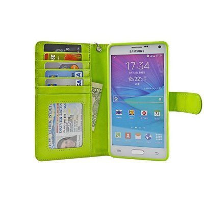 Navor Protective Flip Wallet Case for Samsung Galaxy Note 4 - (Grass)