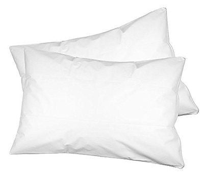 2 Pack Waterproof, Allergen, and Bed Bug Blocking Pillow Protector with Zipper