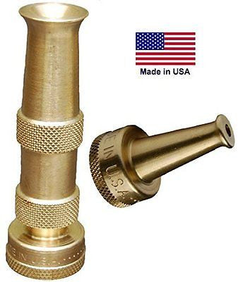 Hose Nozzle Solid Brass Spray Patterns Bonus High Pressure Sweeper Nozzle