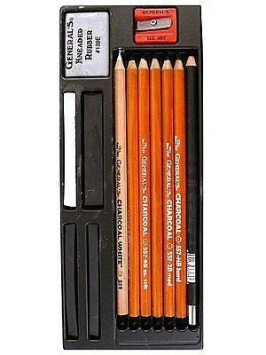 13-Piece Charcoal Pencil Kit