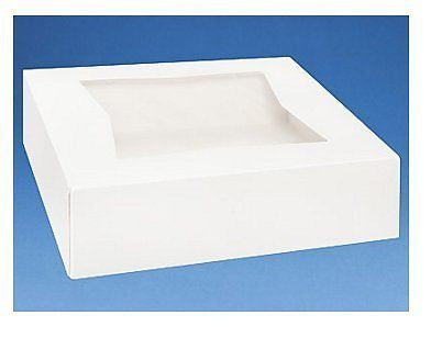 Strong Superior Quality 10 X 10 X 2.5 White PIE & Cupcake Window Boxes - 10pack