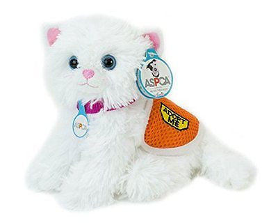 Adopt-A-Pet Kitten. 18 Inch Doll Pets, White Plush Kitten with ASPCA? Adoption