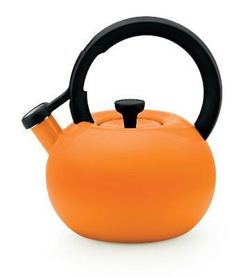 Circulon 2-Quart Circles Teakettle, Mandarin Orange