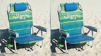 2 Tommy Bahama 2016 Backpack Cooler Chair with Storage Pouch and Towel Bar