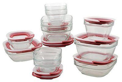 Easy Find Lid Glass Food Storage Container 22-Piece Set (1865887)