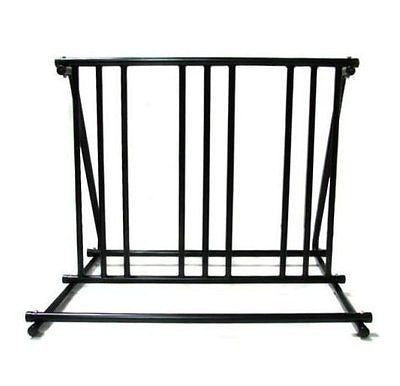 New!! Bicycle Parking Storage Rack 1-6 Bikes Steel Park Stand Black