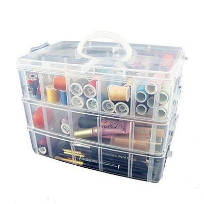 Storage Container with 30 Adjustable Compartments
