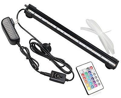 Mingdak LED Submersible Aquarium Light For Fish Tanks,With Air Stone,Remote Cont