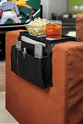 TV Remote Control Organizer Holder Drapes Over Sofa Arm Armrest Organizer