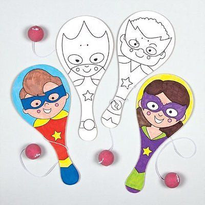 Star Hero Color-in Biff Bats for Children to Paint Perfect Party Bag Filler