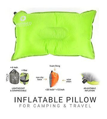 Inflatable Compressible Camping Pillow Best For Backpacking Hiking Traveling