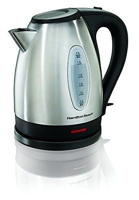 Hamilton Beach 40880 Stainless Steel Electric Kettle 1.7-Liter Silver