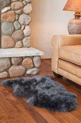 Overland Single-Pelt Australian Sheepskin Rug, STEEL, Size 1 SIZE