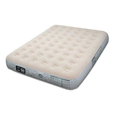 EZ Inflate Queen Size Portable Ultimate Comfort Inflatable Suede Airbed