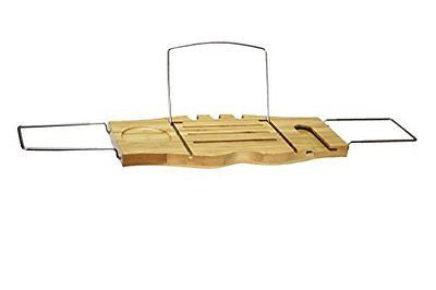 EWEI'S HomeWares Bamboo Bathtub Caddy, Bamboo Shower Bath Tub Tray Organizer
