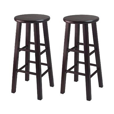 Winsome Bar Stool with Square Legs 29-Inch Espresso Set of 2