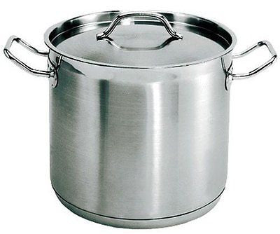 (SPS-100) 100 Qt Induction Ready Stainless Steel Stock Pot w/Cover