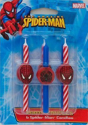 DecoPac 11745 Spider-Man Candles - 6 / BX