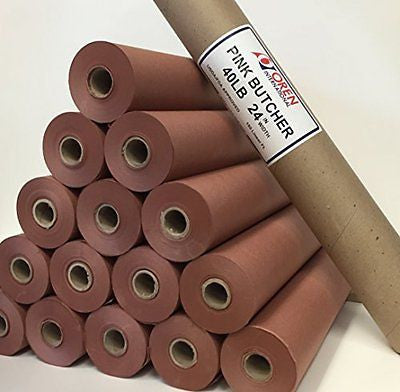 Pink/Peach Butcher Paper Roll 24
