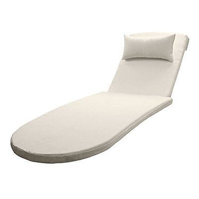 All-Weather Outdoor Chaise Lounge Cushion by Sol Coastal