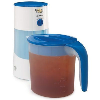 Mr. Coffee TM70 3-Quart Iced Tea Maker 3-Quart Blue