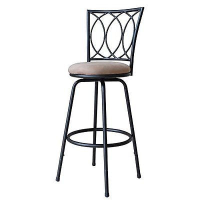 Roundhill Furniture Redico Adjustable Metal Barstool, Powder Coated Brown