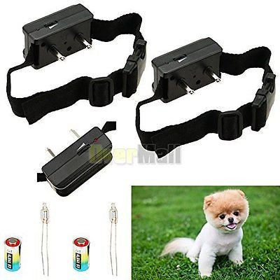 2 X Anti Bark No Barking Tone Shock Control Training Collar for Small Medium