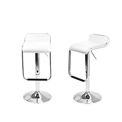 Magshion*Set Of 2 Square Seat Design Swivel Bar Stool Chair Counter Kitchen